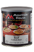 Mt. House Diced Beef #10 Can  - Case of Six